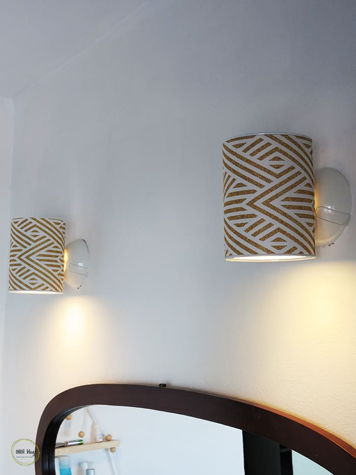 Tin can wall lights by ohohdeco.com