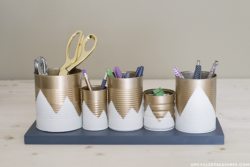 Tin can organiser from mountainmodernlife.com